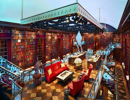 Home library library of the human imagination goannatree for Cool home libraries