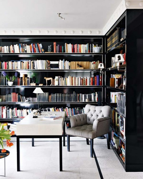Home Library: Chic But Comfy