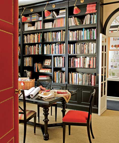 Home Library: Black and Red