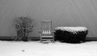 winter chair lonely