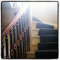 sunlight on the stairws